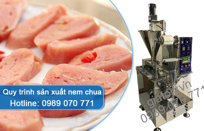 quy trình sản xuất nem chua